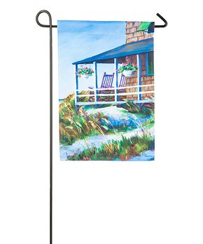 Evergreen | Patriotic Basket of Flowers Linen Outdoor Flag