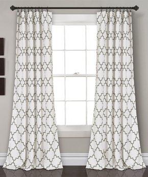 Lush Décor | Gray Bellagio Room Darkening Curtain Panel Set