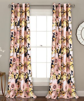 Lush Décor | Ivory Prima Velvet Curtain Panel - Set of Two