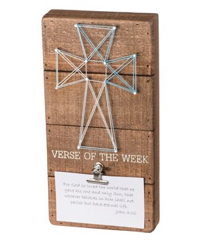 Primitives by Kathy | 'Verse of the Week' String Art Block Sign