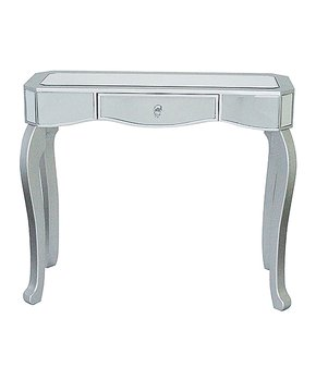 Heather Ann | Silver Katrina One-Drawer Mirrored Console Table