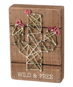 Primitives by Kathy | 'Happy Mind Happy Life' Stitched Block Sign