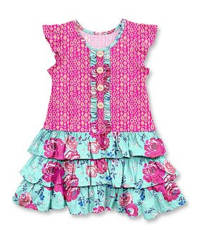 1e223d9bb47cc3 Millie Loves Lily | Pink Puppy Cutout Dress - Toddler & Girls. all gone