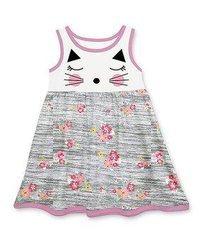 4bf43326617a69 Millie Loves Lily | Gray 'Love' Sleeveless Dress & Stripe Leggings - … all  gone