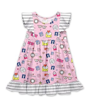 55aa89fcfe0154 Millie Loves Lily | Red & Pink Floral A-line Dress - Toddler & Girls. all  gone