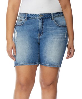 Rebel Wilson x Angels | Harbour The Starling Mid-Rise Boyfriend Shorts – Plus