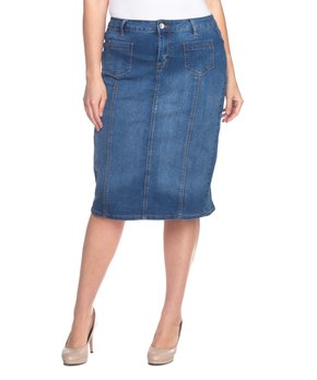 Be Girl Clothing | Indigo Denim Pencil Skirt - Women & Plus
