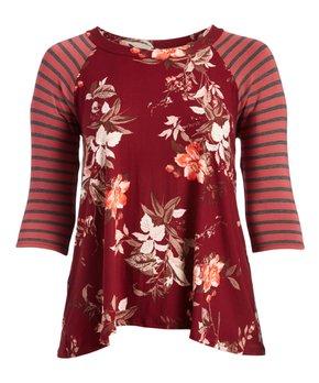 VELZERA | Orange Tassel-Trim Tie-Front Cardigan - Women & Plus