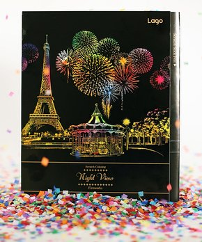 Lago Design | Night View Fireworks Scratch Coloring Set
