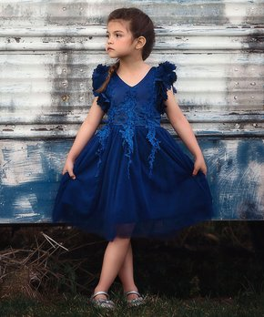 ee1528645 Precious Kids | Ivory Sequin Tulle & Organza Dress – Toddler & Girls ...
