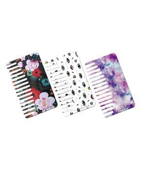 Go-comb | Pink & Purple Power Wallet Comb – Set of Three