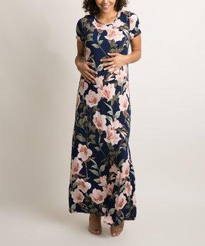 c29e645964 PinkBlush Maternity | Olive Floral Maternity Midi Dress. all gone