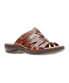 Brown Leisa Field Leather Slide - Women