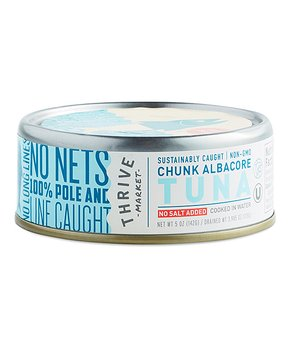 Thrive Market | 5-Oz. Non-GMO No Salt Added Chunk Albacore Tuna