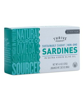 Thrive Market | 3-Oz. Non-GMO Sardines in Water with Salt