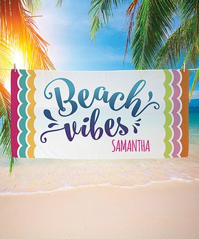 personalized beach towels zulily