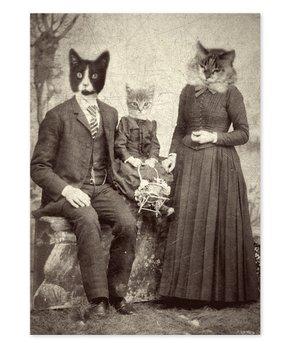Antique Pet Photos | Cat Family Photographic Print