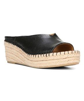 Franco Sarto | Black Leather Pine Slide – Women