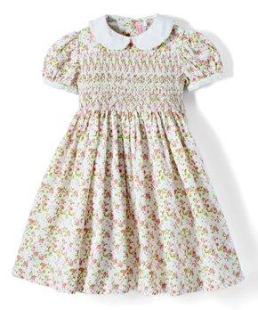 Girls White Eyelet Dress