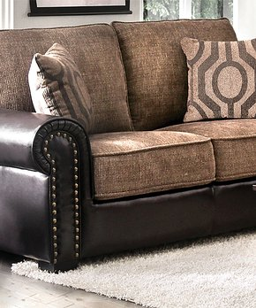 Serendipity | Brown Transitional Style Faux Leather Sofa
