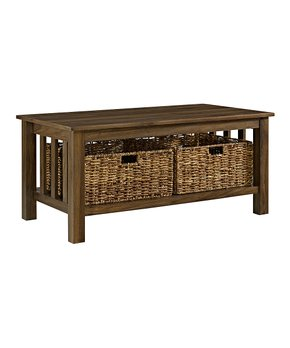 Walker Edison   Dark Walnut Storage Coffee Table
