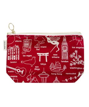 MAPTOTE | Red Cities Zip Pouch
