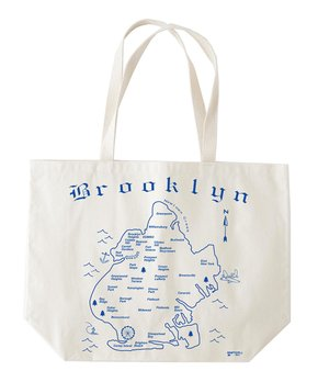 MAPTOTE | Blue 'Brooklyn' Beach Tote