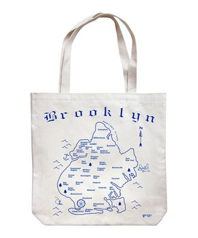 MAPTOTE | Blue 'Brooklyn' Market Tote