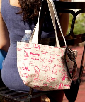 MAPTOTE | Pink Los Angeles Mini Tote