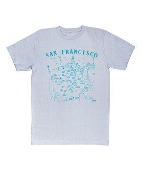 MAPTOTE | Silver 'San Francisco' Tee
