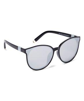 cc4d9df80b18 all gone. Black Mirrored Cat-Eye Sunglasses