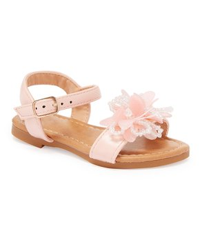 Ositos Shoes | Blush Flower Bead Sandal - Girls