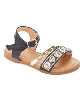 Ositos Shoes | Black Circle-Accent Sandal - Girls