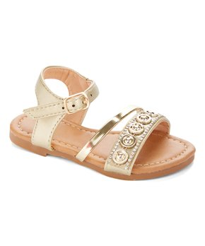 Ositos Shoes | Gold Circle-Accent Sandal - Girls