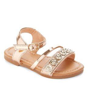 Ositos Shoes | Rose Gold Circle-Accent Sandal - Girls
