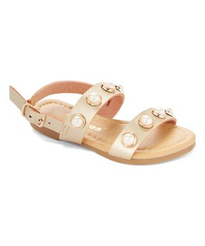 Ositos Shoes | Gold Lustrous-Accent Sandal - Girls