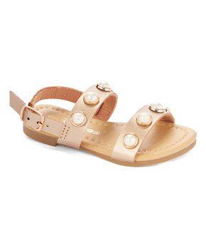 Ositos Shoes | Rose Gold Lustrous-Accent Sandal - Girls