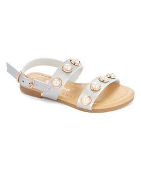 Ositos Shoes | Silver Lustrous-Accent Sandal - Girls