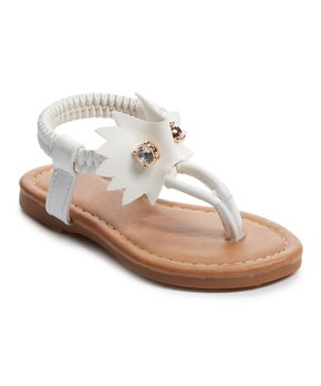 Ositos Shoes | White Pin T-Strap Sandal - Girls