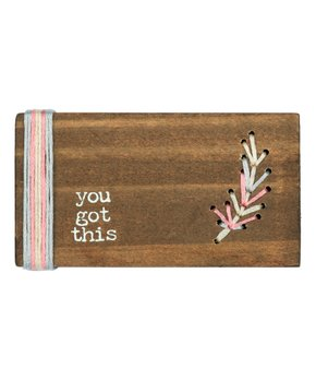 Primitives by Kathy | 'You Got This' Stitched Block Sign