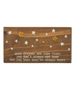 Primitives by Kathy | 'Good Friends Are Like Stars' Stitched Block Sign