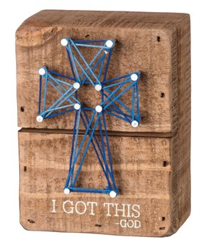 Primitives by Kathy | 'I Got This' String Art Block Sign