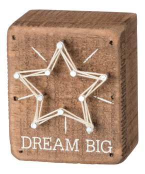 Primitives by Kathy | 'Dream Big' String Art Block Sign