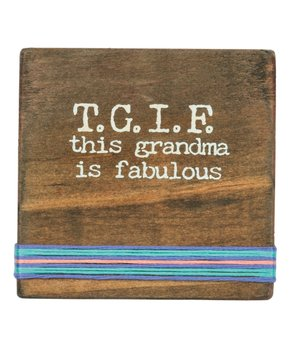 Primitives by Kathy | 'This Grandma Is Fabulous' Stitched Block Sign