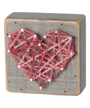 Primitives by Kathy | 'Love You More' String Art Block Sign