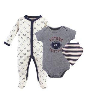 493c9981f ... Cream & Black 'Little Man' Bodysuit Set - Infant. shop now. Hudson Baby  | Brown Forest Animal Bodysuit Set - Newborn & Infant. shop now. only 5 left