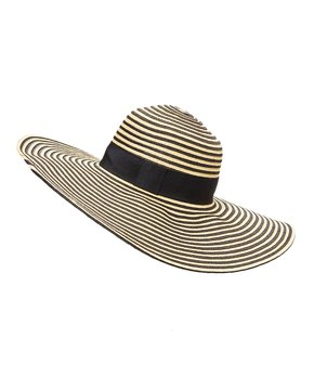 e5af227a all gone. Something Special | Black & Natural Stripe Sunhat