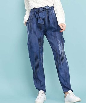 bd433a369554b4 La Fille du Couturier | Blue Stripe Linen Paper Bag Pants - Women & P…