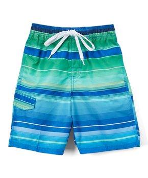 bdd45f5a3e Kanu Surf | Navy & Green Horizon Boardshorts - Toddler & Boys