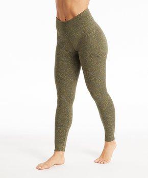 1f793a4faaf81e Balance Collection | Olive Cosmic Fleece-Lined High-Waist Leggings - … shop  now